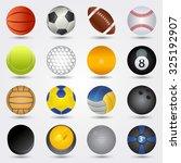 sport balls | Shutterstock .eps vector #325192907