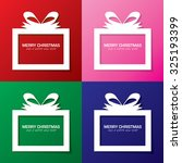 collection christmas gift boxes ... | Shutterstock .eps vector #325193399