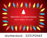 christmas background with... | Shutterstock .eps vector #325193465