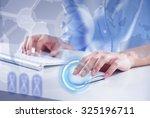 hands of businessman working... | Shutterstock . vector #325196711