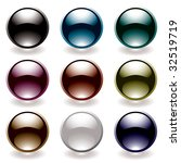 collection of nine round icons... | Shutterstock .eps vector #32519719