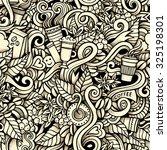 cartoon hand drawn doodles on... | Shutterstock .eps vector #325198301
