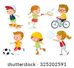sport for kids including... | Shutterstock .eps vector #325202591