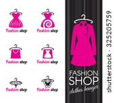 fashion shop logo   clothes... | Shutterstock .eps vector #325205759