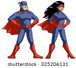 comic book superheroes on white ... | Shutterstock .eps vector #325206131