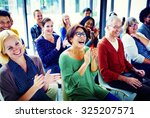 group of people audience... | Shutterstock . vector #325207571