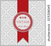 vintage invitation card with... | Shutterstock .eps vector #325208345