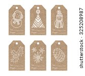 collection of  kraft paper tags ... | Shutterstock .eps vector #325208987