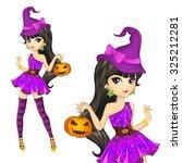 halloween illustration.... | Shutterstock .eps vector #325212281