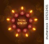 diwali festival background. | Shutterstock .eps vector #325212431
