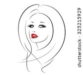 beautiful woman's face. | Shutterstock .eps vector #325215929