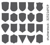 shield shape labels  vector set | Shutterstock .eps vector #325216919