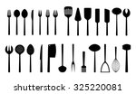 set of kitchen tools  vector... | Shutterstock .eps vector #325220081