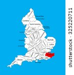 Vector Map Of Kent  South East...