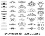 vintage set decor elements.... | Shutterstock .eps vector #325226051