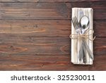 silver fork  spoon and knife... | Shutterstock . vector #325230011