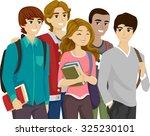 illustration of a popular girl... | Shutterstock .eps vector #325230101
