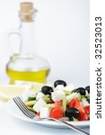 greek salad with lemon and...   Shutterstock . vector #32523013