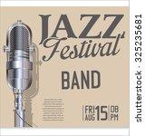 jazz music festival  poster | Shutterstock .eps vector #325235681