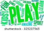 play word cloud on a white