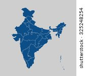 map of india | Shutterstock .eps vector #325248254