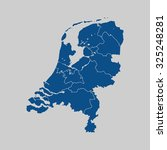 map of netherlands | Shutterstock .eps vector #325248281