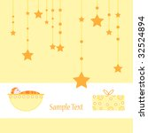 baby arrival announcement card... | Shutterstock . vector #32524894