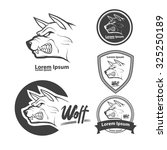 wolf head for logo  american... | Shutterstock .eps vector #325250189
