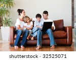 happy family playing together... | Shutterstock . vector #32525071