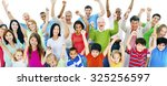 group of people community... | Shutterstock . vector #325256597