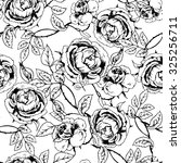 vintage seamless pattern with... | Shutterstock .eps vector #325256711