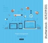 flat design illustration... | Shutterstock . vector #325259201