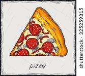 sketch color illustration. sign.... | Shutterstock .eps vector #325259315