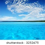 Ripples in Turquoise Lagoon - stock photo