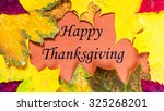 thanksgiving day.  decoration... | Shutterstock . vector #325268201