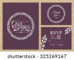 wedding set. wedding invitation ... | Shutterstock .eps vector #325269167