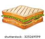 french sandwich icon ... | Shutterstock .eps vector #325269599