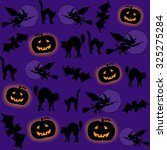 halloween vector seamless... | Shutterstock .eps vector #325275284