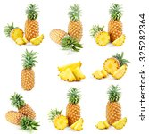 pineapple isolated on white... | Shutterstock . vector #325282364