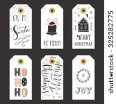 vintage christmas gift tags | Shutterstock .eps vector #325282775