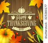 hand drawn thanksgiving... | Shutterstock .eps vector #325283177