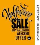 halloween sale. happy holiday.... | Shutterstock .eps vector #325283195