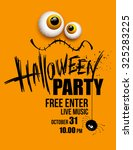 halloween party. happy holiday. ... | Shutterstock .eps vector #325283225