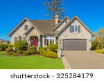 luxury house in vancouver ... | Shutterstock . vector #325284179
