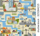 great city map creator.seamless ... | Shutterstock .eps vector #325284215