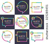 vector set of quote forms... | Shutterstock .eps vector #325285451