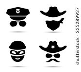Set Of Black Vector Icons...
