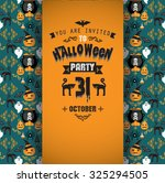 invitation to halloween party...   Shutterstock .eps vector #325294505