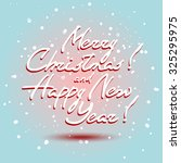 christmas greeting card. merry... | Shutterstock . vector #325295975