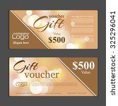 gift voucher template. can be... | Shutterstock .eps vector #325296041